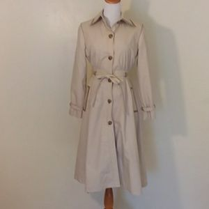 Vintage A-line Trench Coat With Removable Lining